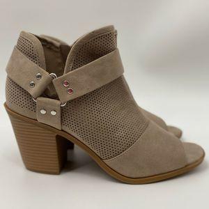 Fergalicious by Fergie Tan Sandal Bootie Size: 9